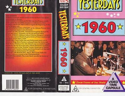 Yesterdays  1960 Vhs Video Pal~ Very  Rare Find~