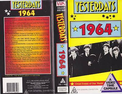 Yesterdays  1964 Vhs Video Pal~ Very  Rare Find~