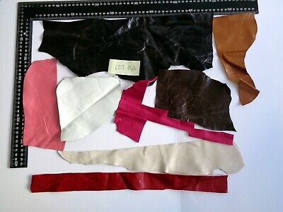 BRAND NEW GENUINE LEATHER SCRAPS, PIECES, OFF CUTS for CRAFTS & HOBBIES -Lot 146