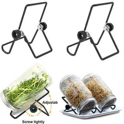 2x Stainless Seed Sprouter Germinator Sprouting Stands Kit for Mason Jars Phone