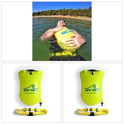 Swimmers Triathletes Light Visible Float Training Racing Fluo Yellow Green NEW