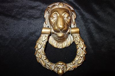 Brass Lion Animal Head Door Knock/Knocker - Heavy Solid 2.5Kg