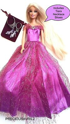 Brand new barbie doll clothes Rapunzel outfit princess wedding dress clothing.