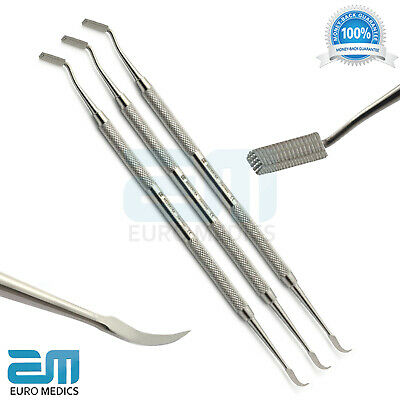 Set of 3 Dental Band Pusher Scaler Orthodontic Dental Instruments Ortho Tools CE