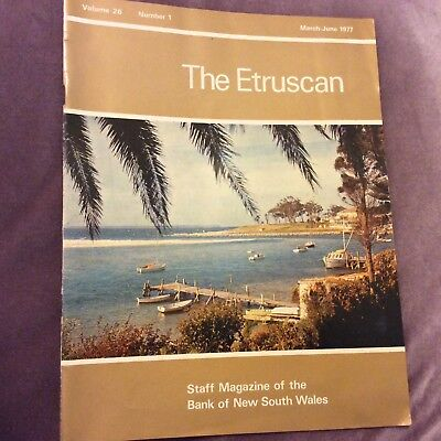 The Etruscan - Bank of NSW Staff Magazine - March/June 1977