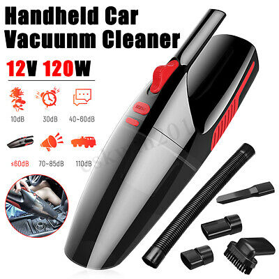 5000Pa 120W Car Vacuum Cleaner 3 attachment Rechargeable Dry Wet Handheld Home