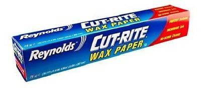 Reynolds® Cut-Rite Wax Paper Die Cut Easy Release (75 Sq Foot) Free P & P!