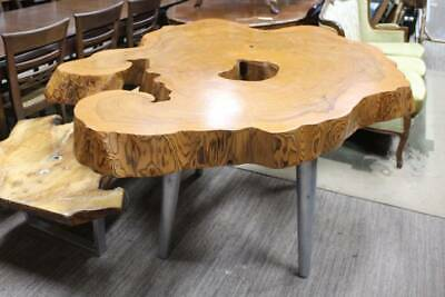 A Magnificent Large Full Natural Tree Trunk Slab Table