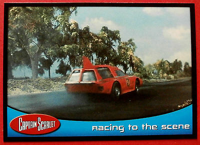 CAPTAIN SCARLET - Card #56 - Racing To The Scene - Cards Inc. 2001