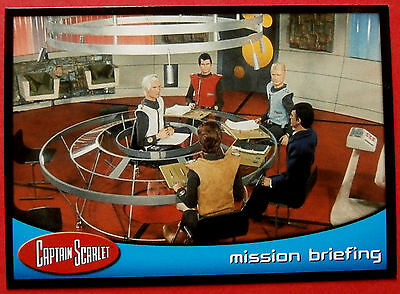 CAPTAIN SCARLET - Card #62 - Mission Briefing - Cards Inc. 2001