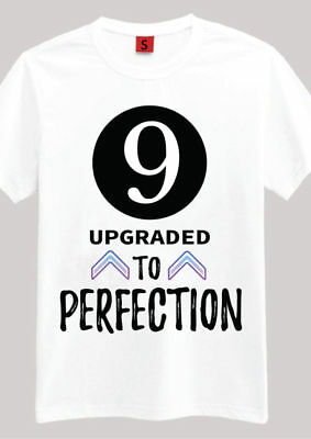 9 Aged Perfection T Shirt 9th Birthday Gifts Presents For Year