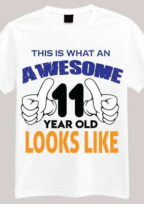 This Is Awesome 11 Year Old T Shirt 11th Birthday Gifts For