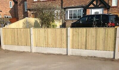 🌳 Heavy Duty Pressure Treated 6X3 Straight Top Vertical Board Fence Panels -New