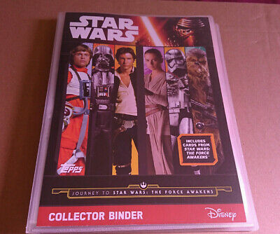 Topps Star Wars Force Awakens Cards Complete Set & Folder Plus 2 Ltd Editions