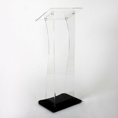 Budget Clear Acrylic Presentation Lectern | Pulpit | Book Stand | Podium