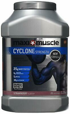 Strawberry Maximuscle Cyclone Whey Protein Powder 1.26 kg Creatine Shake Muscle
