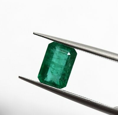1.16 Ct Emerald Loose Gemstone Octagon Cut Natural Rich Green Color AA+ No Heat