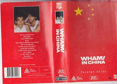 Wham In China Cbs Fox  Vhs Video Pal~ Very  Rare Find~