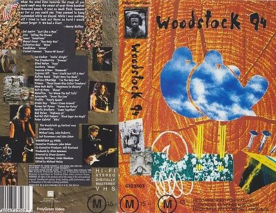 Woodstock 94 Pal Vhs~ A Rare Find
