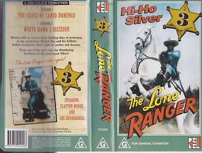 The Lone Ranger Three  Vhs Pal Video  A Rare Find