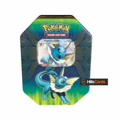 Pokemon Vaporeon-GX Elemental Power Collectors Tin:Booster Packs TCG Cards Promo