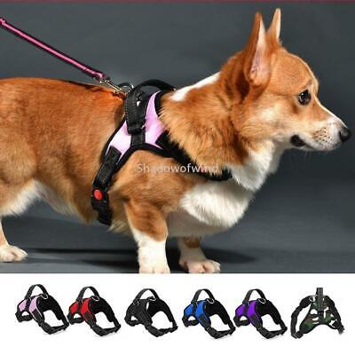 Dog Harness Large Non Pull Outdoor Adjustable Reflective Breathable with Handle