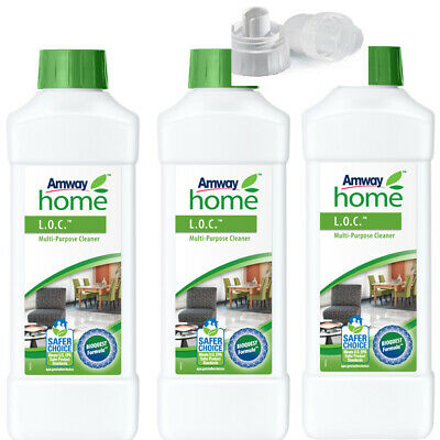 Amway Home | Pack 3  Limpiador Multiusos L.O. + Tapón Medidor AMWAY| 3x1 litro