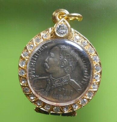 Top Old Beautiful Antique King Rama V Hot Pendant Very Rare !!!