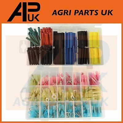360pc Electrical Wire Heat Shrink terminals connectors & colour tubing assorted