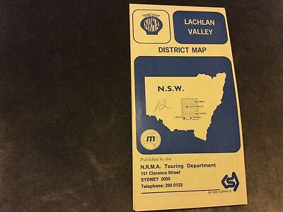 Vintage NRMA Lachlan Valley District Map - 1974