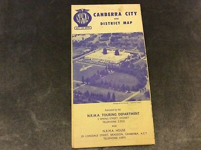 Vintage NRMA Canberra City and District Map