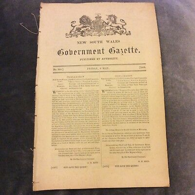 NSW Government Gazette - 6 May 1898