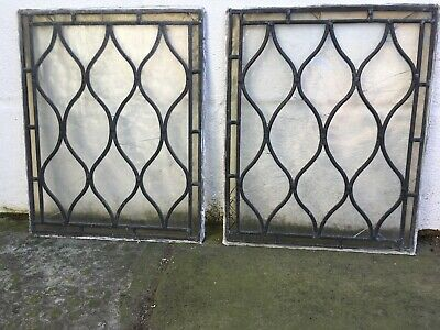 Antique Stained Glass Panels x4 from a Georgian Sash Frame x3 Damaged