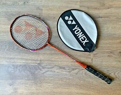 YONEX MusclePower 3 Badminton Racket- Orange- Carbon Graphite Shaft- With Cover