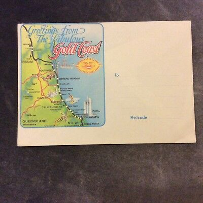 Vintage Gold Coast Envelope - Unused - Australia