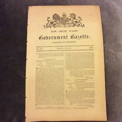 NSW Government Gazette - 20 May 1898