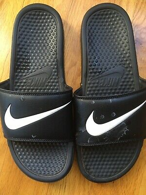 22b1a600716e New Men s Nike Benassi JDI Slide Sandals Black White size 7 8 9 10 11