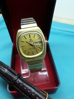 Omega Seamaster Automatic Cal.1020 Men's Wrist Watch Swiss Vintage Gp Ω Day/Date