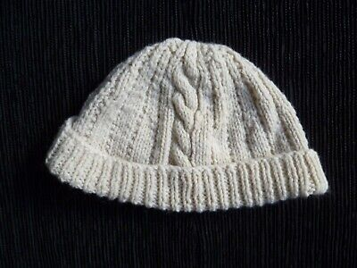 Baby clothes BOY GIRL 3-6m  soft knitted beige pull-on warm hat SEE SHOP!COMBINE