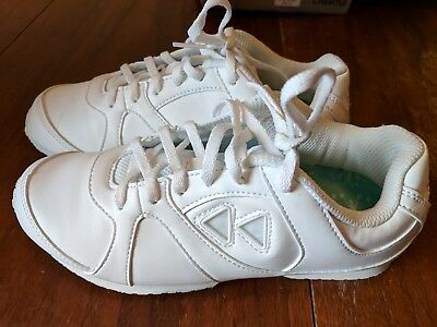 1883f60b7f2e89 NEW WOMEN S KAEPA Jump Cheerleading Shoe 6305 White W  Color Inserts ...