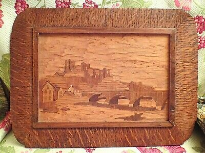 Vintage Inlaid Italian Marquetry Wooden Sorrento Ware Wall Plaque B