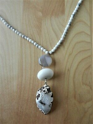 Barse Genuine White Stones with Pendant  Beaded  Necklace MSRP $58