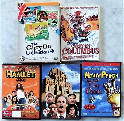 7 x Various DVD Movie British Comedies, Set of 7 DVDs Monty Python, Carry On (7)