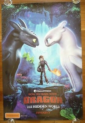 HOW TO TRAIN YOUR DRAGON Original 2019 Australian Advance One Sheet Movie Poster