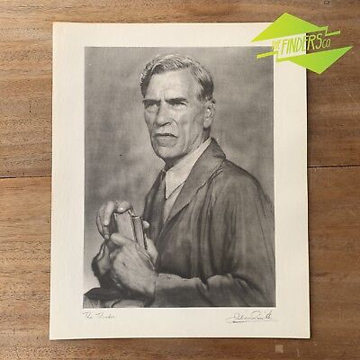 "Vintage ""The Thinker"" 1948 Photographic Print By Dr. Julian Smith Photographer"