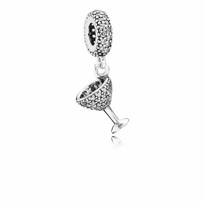 New Authentic Pandora Charms 925 Sterling Silver ALE Dangle CZ Bracelet Bead