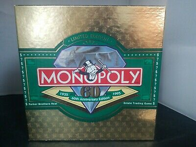 Monopoly 1995 60th Anniversary Limited Edition Board Game Parker Brothers - NEW
