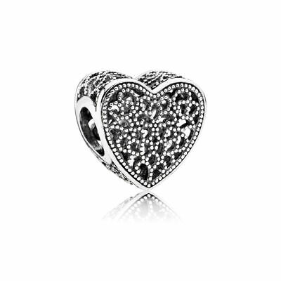 New Authentic Pandora Charms 925 ALE Sterling Silver Heart Bracelet Charm Bead