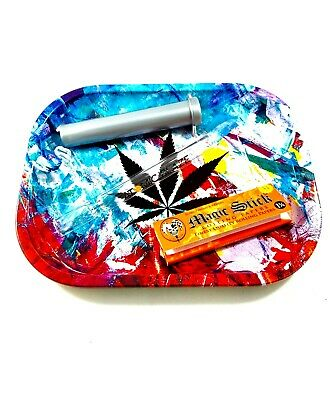 Premium Smoker's Bundle- Tray, 420/OG Chillum, Glass Tip, Rolling Papers, Tube