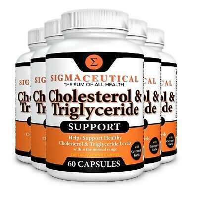 5 Pack of Cholesterol Lowering Supplement - Lower Triglycerides - Natural Ste...